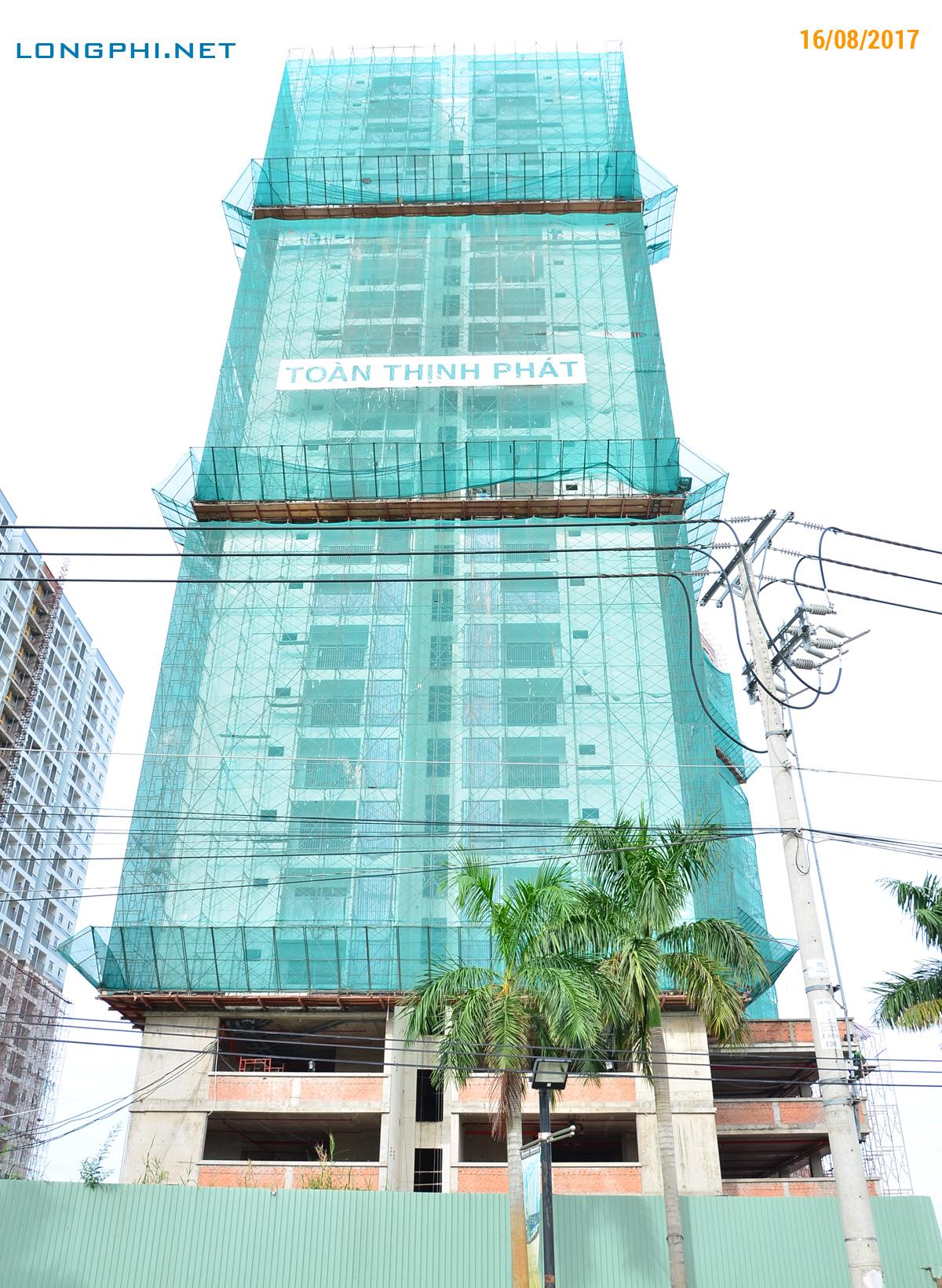 Tháp Bắc M1 Jamona Apartment nhìn từ đường Đào Trí.