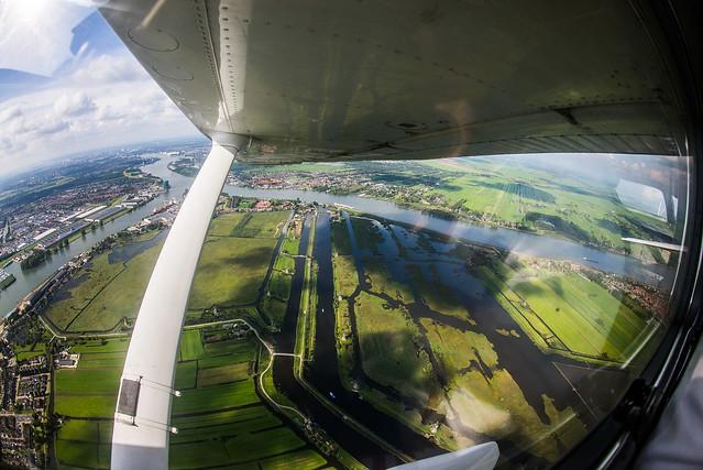 Flying over Rotterdam : Netherlands