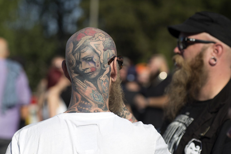 Impressive head tattoo