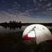 Camping on Diamond Lake I by Gregory Pleau