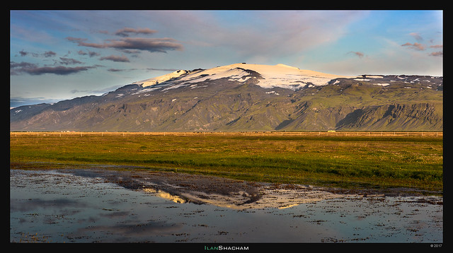 Eyjafjallajokull reflected