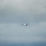qantas flight 73 on final