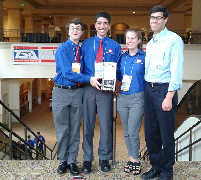 Team 91c Cyclops with their TSA Nationals excellence award