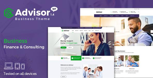 Advisor v1.4 – Consulting, Business, Finance WordPress Theme