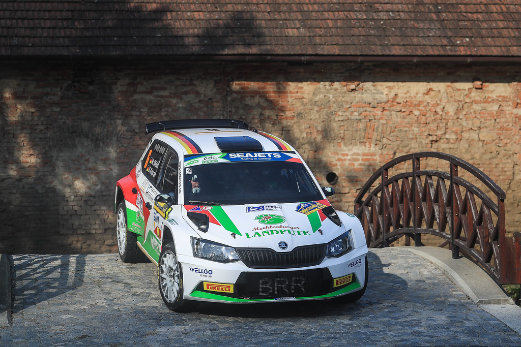 06 GRIEBEL Marijan (DEU) KOPCZYK Stefan (DEU) Skoda Fabia R5 action during the 2017 European Rally Championship ERC Barum rally,  from August 25 to 27, at Zlin, Czech Republic - Photo Jorge Cunha / DPPI