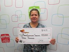 Maria Guadalupe Sandoval - $3,000 - Hot Lotto Sizzler - Pocatello - KJ's Super Store