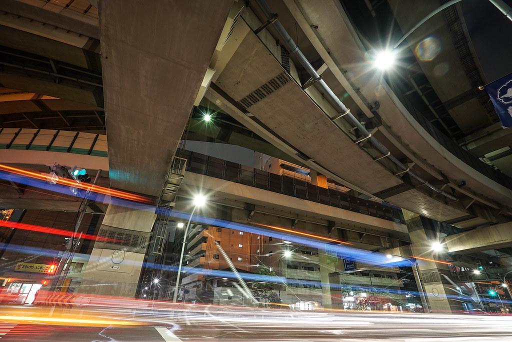 箱崎ジャンクションの夜景