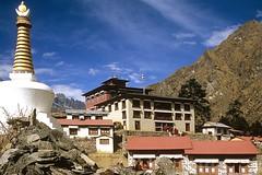 Sherpa-Kloster Tengpoche im Everest-/Khumbu-Gebiet, Nepal. Foto: Archiv Härter.