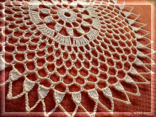 crochet, little doily, terítő , horgolt