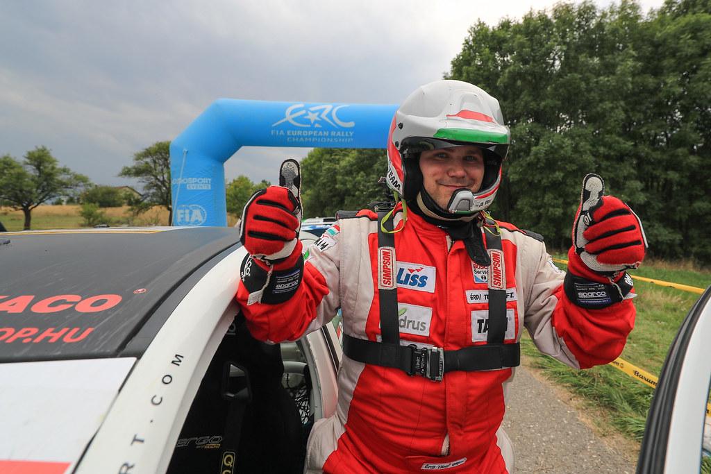 32 ERDI Tibor Jr. (HUN) PAPP Gyorgy (HUN) Mitsubishi Lancer Evo X ambiance during the 2017 European Rally Championship ERC Barum rally,  from August 25 to 27, at Zlin, Czech Republic - Photo Jorge Cunha / DPPI