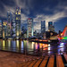 彩虹南橋和駁船碼頭, 夜景 l Rainbow South Bridge & Boat Quay at Dusk *Corners of Singapore* by iLOVEnature's Photography Inspiration
