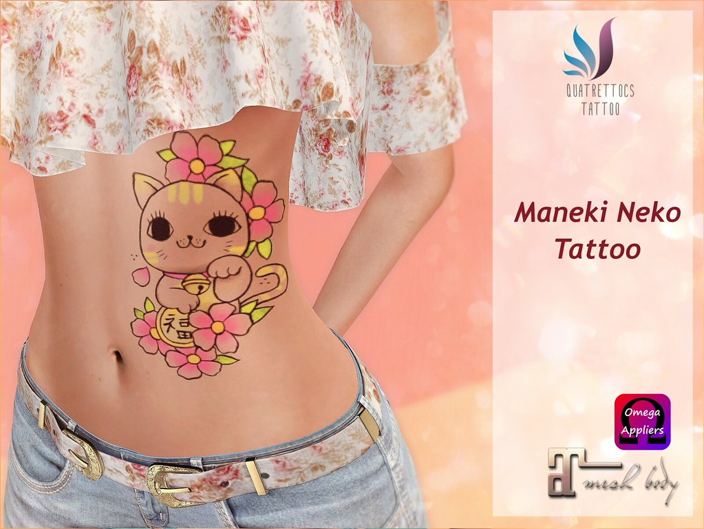 Maneki Neko Tattoo - SecondLifeHub.com