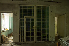 Empty cell in a Pripyat police station