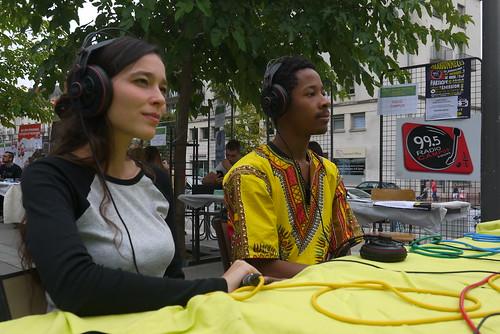 Radio Campus sur l'Esplanade Thélème pour la rentrée universitaire (06/09/17)