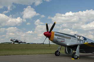 AirExpo 2017 - Redtail Mustang - On the Ramp