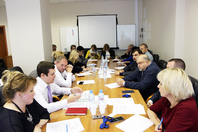Участники совместного совещания операторов столичного рынка распространения прессы  и представителей КП «Мосгорпечать»