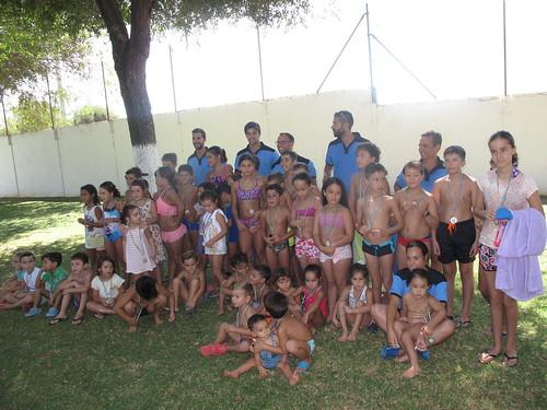 Clausura de los cursos de natación de verano