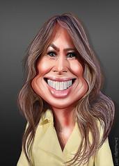 Melania Trump - Caricature