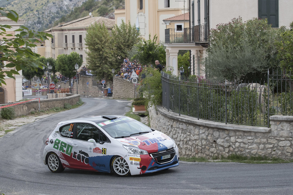 31  BROZ Dominik (CZE) TESINSKY Petr (CZE) Peugeot 208 R2 action during the 2017 European Rally Championship ERC Rally di Roma Capitale,  from september 15 to 17 , at Fiuggi, Italia - Photo Gregory Lenormand / DPPI