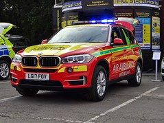 BMW X5 Air Ambulance Critical Care Team Demonstrator LG17 FOV (CCTO5), 2017 Emergency Services Show, NEC, Birmingham.