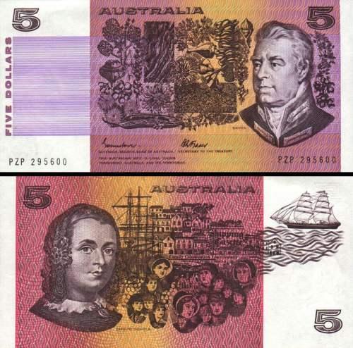 5 Dolárov Austrália 1974-91, P44