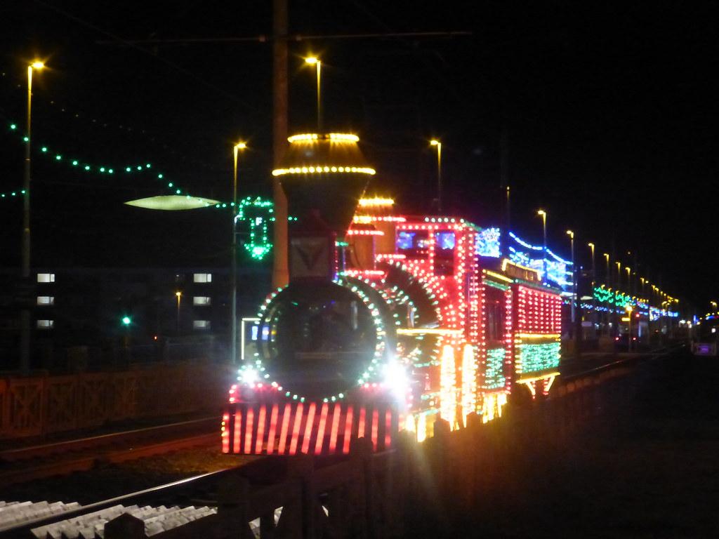 Blackpool illuminations illuminated tram