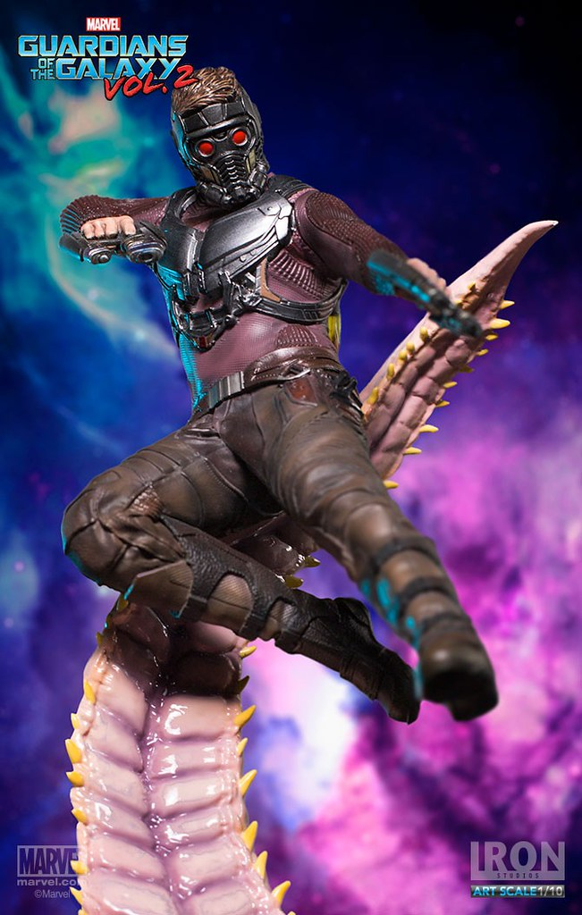 「Showtime A-Holes!!」Iron Studios Battle Diorama 系列 星際異攻隊2【星爵】Guardians of the Galaxy Vol. 2 Star Lord 1/10 比例決鬥場景作品
