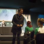 Julian Clary meets the audience |