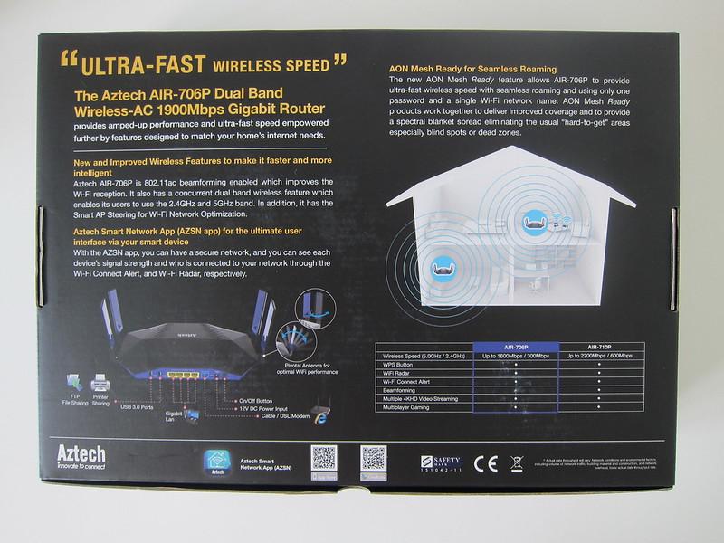 Aztech AIR-706P - Box Back