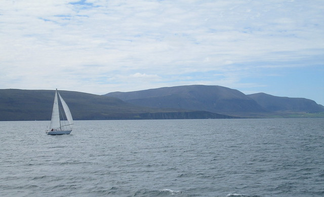 Yacht + Hoy from Scapa Flow