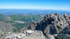 Widok z Kieżmarskiego Szczytu (2536m) na wschód