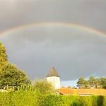 Photos des lecteurs | Arc-en-ciel sur le clocher - Eglise de Canenx et Reaut