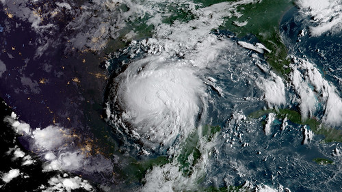 As expected Harvey has intensified into a Hurricane