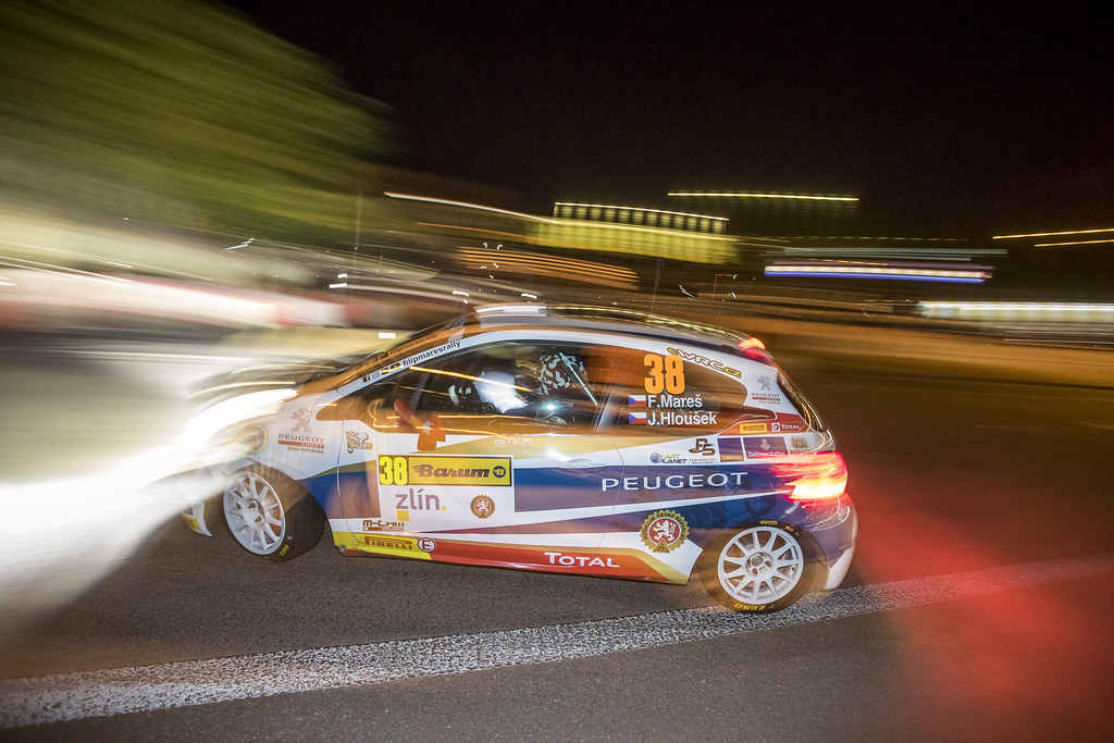 38 MARES Filip (CZE) HLOUSEK Jan (CZE) Peugeot 208 R2 action during the 2017 European Rally Championship ERC Barum rally,  from August 25 to 27, at Zlin, Czech Republic - Photo Gregory Lenormand / DPPI