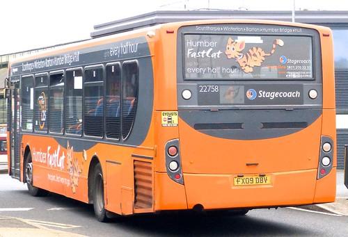 FX09 DBV 'Stagecoach East Midlands' No. 22758 'FastCat Fluffy' MAN 18.240 / Alexander Enviro 300 /1 on 'Dennis Basford's railsroadsrunways.blogspot.co.uk'