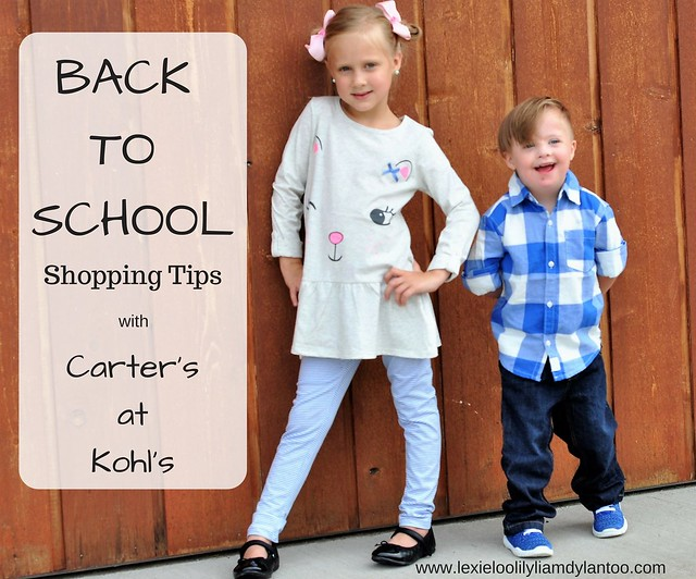 BACK TO SCHOOL Shopping Tips with Carter's At Kohl's #sponsored #GameOn #CartersAtKohls @Kohls @Carters