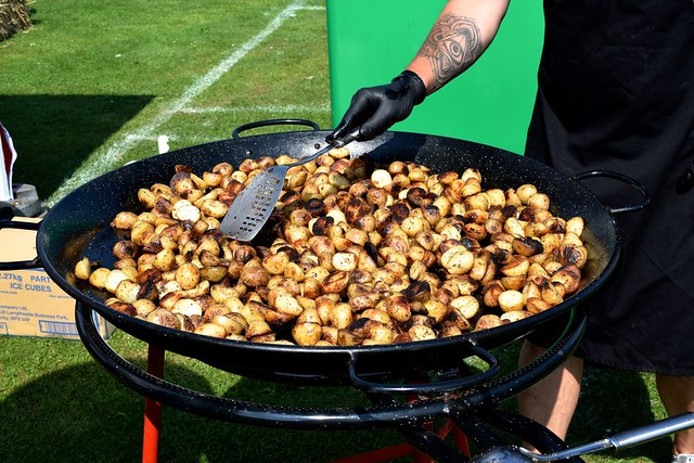 Roasted Potatoes from Just Ribz at We Love Hythe Food Festival | www.rachelphipps.com @rachelphipps