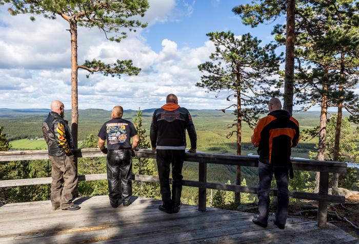 motoristit koulukiusaamista vastaan mkkv lappi lapland tour 2017 biker aavasaksa näköala näköalatasanne aavasaksan huippu (1 of 1)