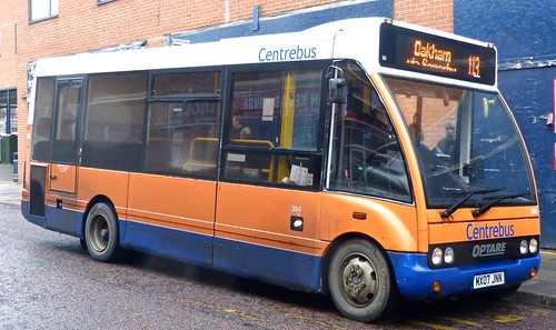 MX07 JNN 'Centrebus' No. 394 Optare Solo M780 on 'Dennis Basford's railsroadsrunways.blogspot.co.uk