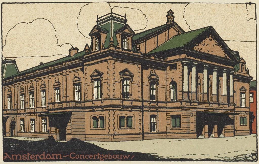 Illustration du Concertgebouw à Amsterdam.