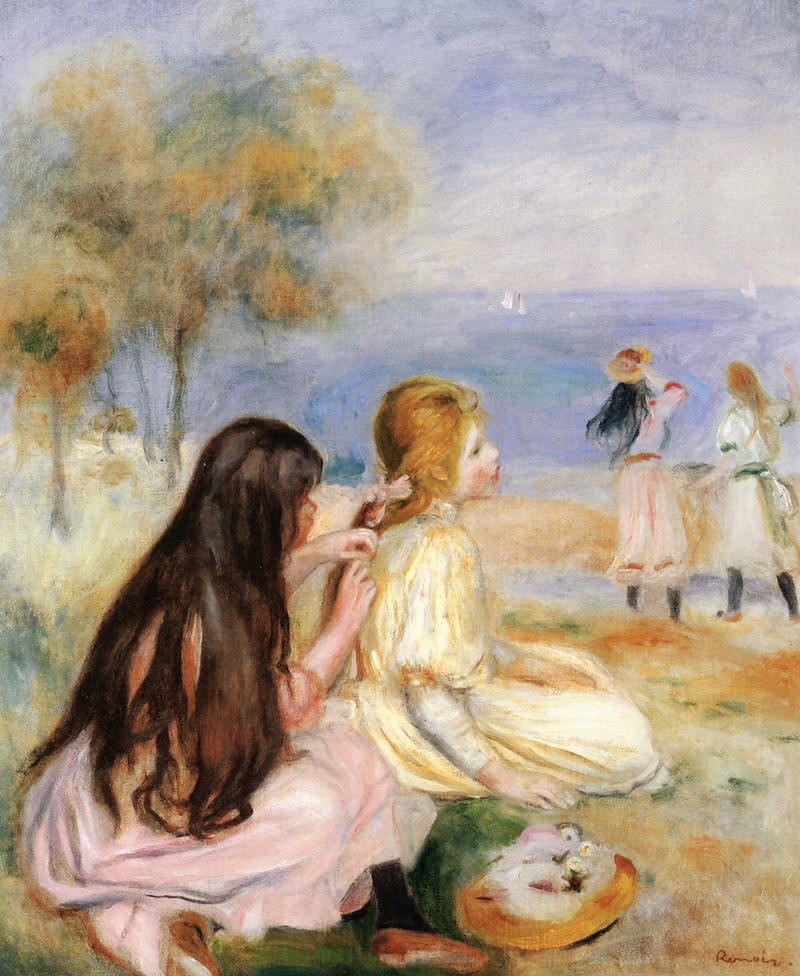 Children by the Sea by Pierre Auguste Renoir - 1894