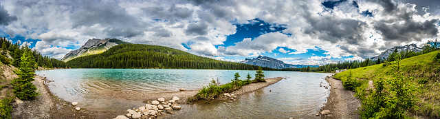 Panorama of Two Jack Lake