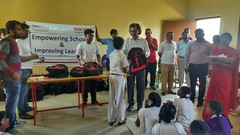 Books and Bag distribution