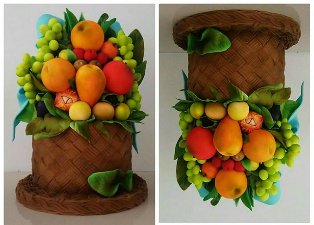 Fruit Face Inspired Cake by MheAnne Romero-Cruz of Dream Bakers
