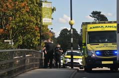Blue light incident in Leighton Buzzard