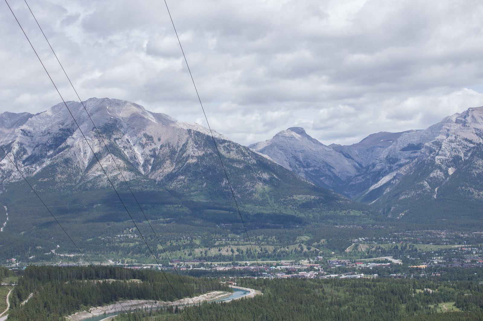 View over Canmore and Bow Valley from Grassi Lakes