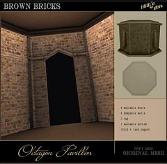 Lilith's Den - Octagon Pedestrial Pavillon brown