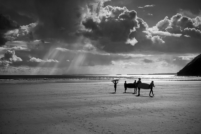 Lets call it a day. Pendine beach, Wales