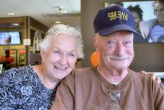 2017-08-10 (5) Ed's 95th birthday celebration at McDonald's in Bowie MD - Barbara - Bob