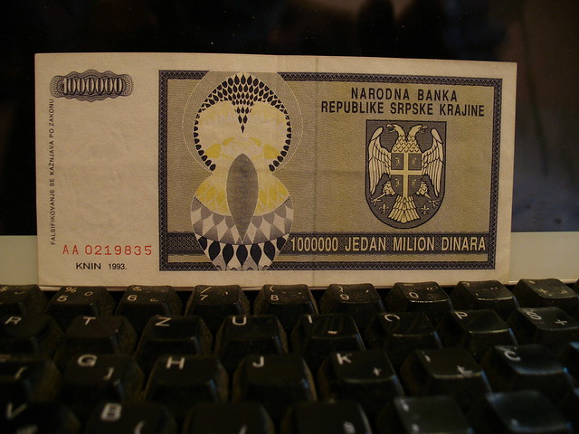 Money of false state on Croatian territory 1991-1995